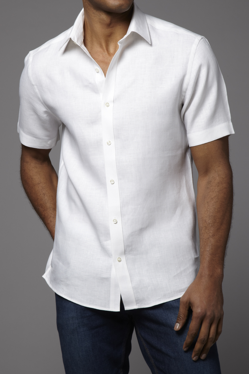 White Short Sleeve Shirt Rudi Valentino